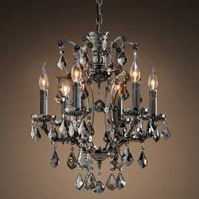 Люстра BLS 30477 19th c Rococo iron and Smoke crystal