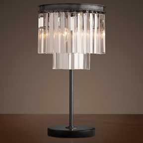Настольная лампа BLS 30015 1920s Odeon Glass Fringe Chandelier