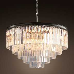 Светильник BLS 30073 1920s Odeon Glass Fringe Chandelier